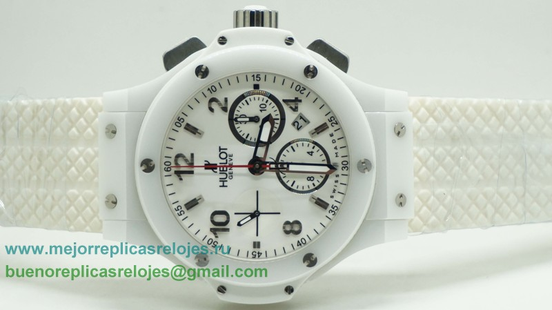 Replicas Relojes Hublot Big Bang Valjoux 7750 Automatico Working Chronograph Full Ceramic HTH105