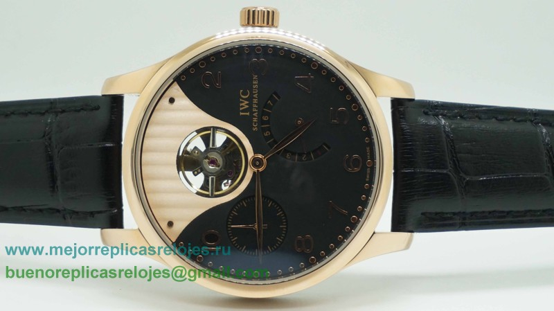 Replica De Relojes IWC Portuguese F.A Jones Tourbillon Working Power Reserve Automatico ICH59