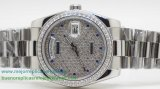 Replicas De Relojes Rolex Day Date Automatico S/S 36MM Diamonds Sapphire RXH383