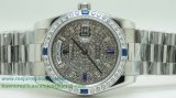 Replicas De Relojes Rolex Day Date Automatico S/S 36MM Diamonds Sapphire RXH242