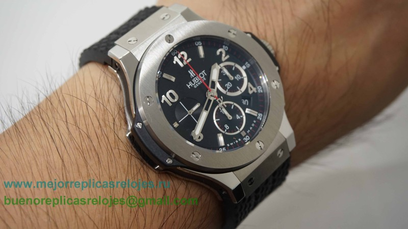 Replicas Relojes Hublot Big Bang King Asia Valjoux 7750 HUB 4100 Automatico Working Chronograph HTH87